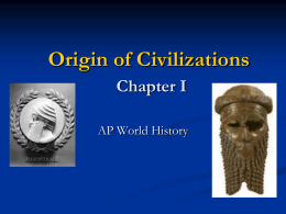Chapter 1 Origins - SJS AP World History
