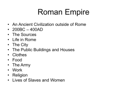 Roman Empire - Portlaoise College