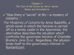 Chapter 4 The Turn of the Screw by Henry James Notes and