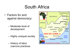 South Africa, Ethnicity, Civil Conflict
