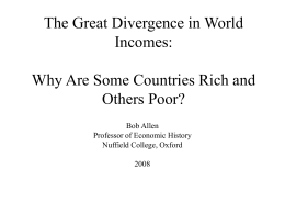 The Great Divergence in World Incomes: Why Are