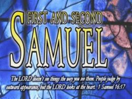 1 and 2 Samuel Slideshow