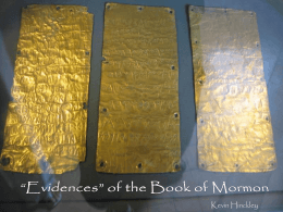 """Evidences"" of the Book of Mormon"