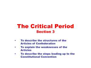 The Critical Period Section 3