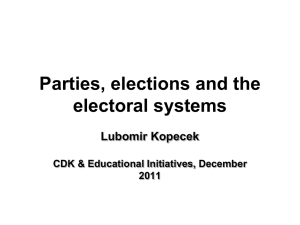 Political Parties, Elections and Electoral Systems