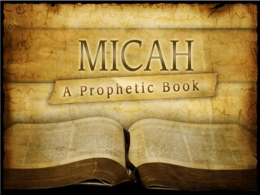 The Book of Micah Lesson Slideshow
