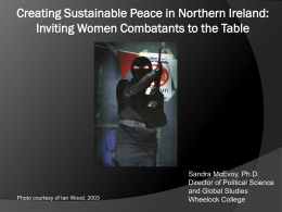 Creating Sustainable Peace in Northern Ireland: Inviting Women