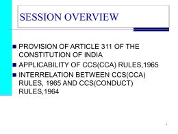 Ccs Cca Rules 1965 Pdf