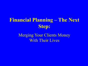 Financial Planning – The Next Step: