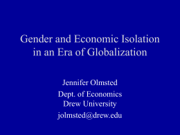 Gender and Economic Isolation in an Era of Globalization