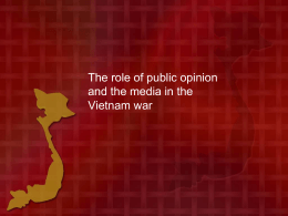 Vietnam Public opinion and the media