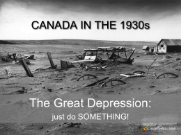 Great Depression Power Point - MSS Canadian and World Studies
