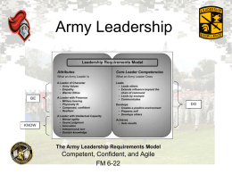 Adaptive Leadership - Rutgers University Army ROTC