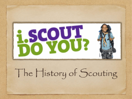 The History of Scouting Presentation