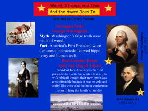 George Washington (1789-1797)- Myth: Washington`s false teeth