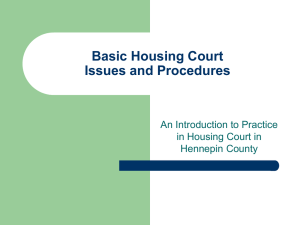 Basic Housing Court Procedures
