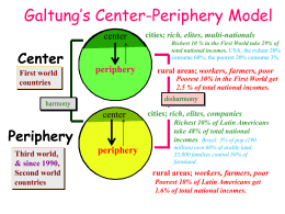 Galtung`s Center-Periphery Model