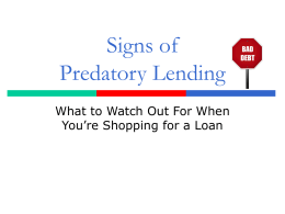 Signs of a Predatory Car Title Loan