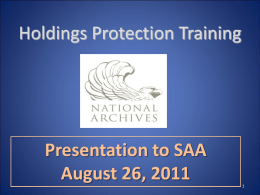 Society of American Archivists Presentation Aug 2011 website