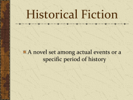 Historical Fiction PPT