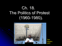 Ch. 18. The Politics of Protest (1960