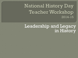 National History Day 2014-15
