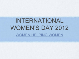 INTERNATIONAL WOMEN`S DAY 2012