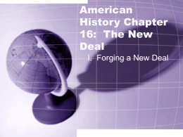 American History Chapter 16: The New Deal