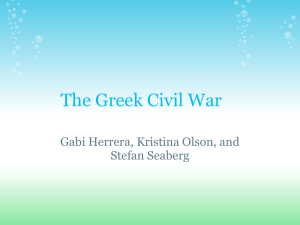 International Intervention in the Greek Civil War
