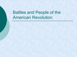2-4 Battles and People of the American Revolution