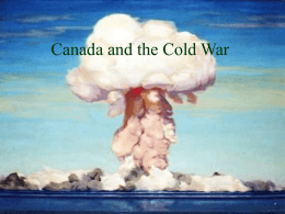 Canada and Conflict in the Cold War