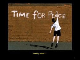 A Time for Peace Powerpoint