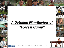 "A Detailed Film-Review of ""Forrest Gump"""