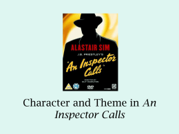Character and Theme in An Inspector Calls