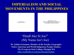 imperialism and social movements in the philippines