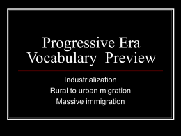Progressive Era Vocabulary Preview