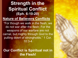 35_Strength in the Spiritual Conflict