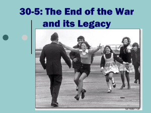30-5: The End of the War and its Legacy - Wood