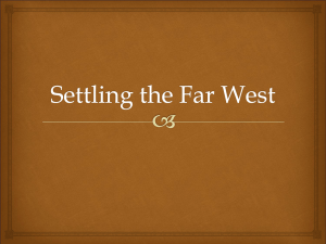 Settling the Far West