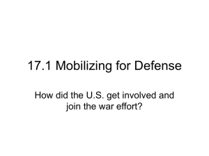 17.1 Mobilizing for Defense - Clayton Valley Charter High School