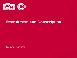 Recruitment and Conscription
