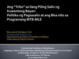 Bersyon 1 - International Conference on Language