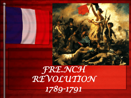 French Revolution PPT Notes - University High World History
