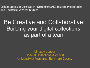 Building your digital collections as part of a team
