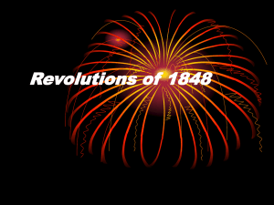 Revolutions of 1848 - Hinsdale South High School