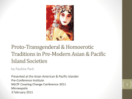 Proto-Transgenderal & Homoerotic Traditions in Pre