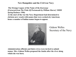 New Hampshire and the Civil war Navy Mrs Gustavus Fox, a