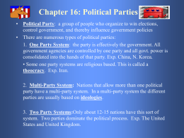 Chapter 16: Political Parties