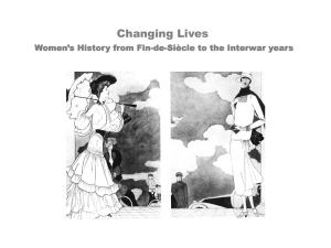 Changing Lives Women`s History from Fin-de