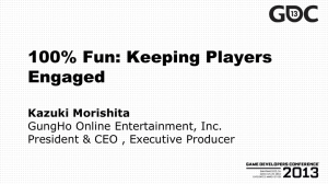 Keeping Players Engaged by Kazuki Morishita